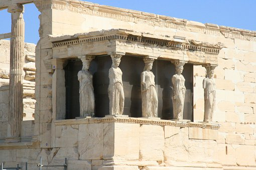 Monument, Erechtejon, Caryatid
