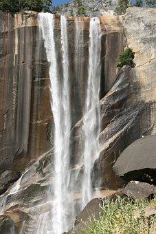 Waterfall, Nature, Water, Yosemite, National Park