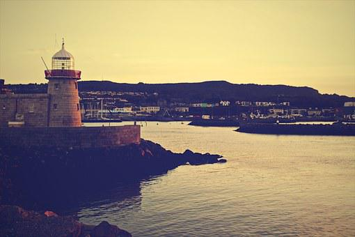 Lighthouse, Grunge, Coast, Coastline, Sea, Nautical