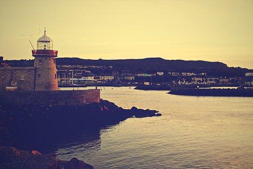 Lighthouse, Grunge, Coast, Coastline, Sea, Nautical