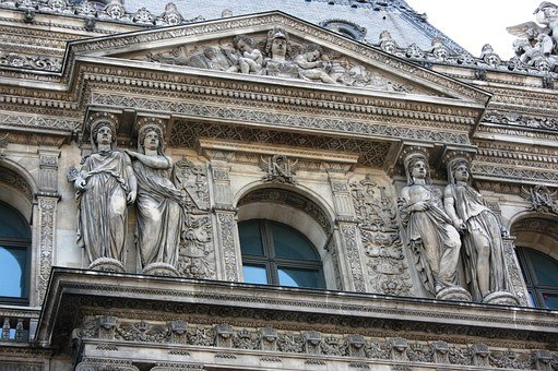 Louvre, Caryatids, Paris