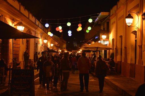 Night, Street, San Cristobal, People, Festival