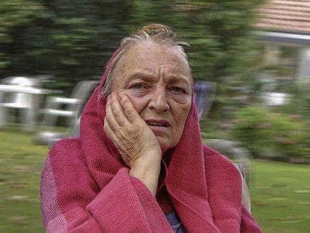 Old, Woman, Human, Person, Invalid, Stroke, Disease