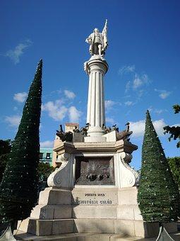 Puerto, Rico, Holiday, Stone, Monumen, San Juan