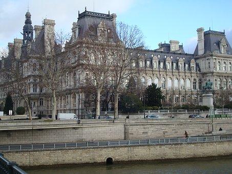 Paris, Old, Architecture, Autumn, River Siena