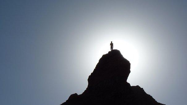 Silhouette, Hiker, Mountain Top, Mountain Peak, Peak