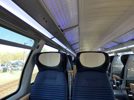 Train Ride, First Class, Sit, Upper Floor, Zugabteil