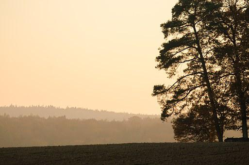 Autumn, Bavaria, Lower Franconia, Landscape, Panorama