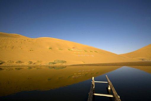 Badain Jaran Desert Depths Of The Lake, Bataan Lake