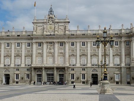 Madrid, Castle, Palace, Architecture, Space, Window