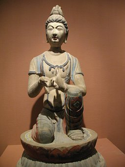 Buddhism, Dunhuang, Statue, Exhibition, Art Gallery