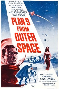 Film Poster, Feature Film, Plan 9 From Outer Space