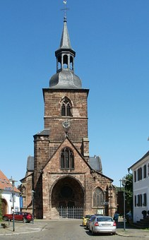 Church, Front, St Arnual, Stiftskirche, Germany