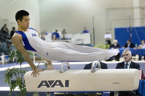 Gymnastics, Gymnast, Man, Match, Competition, Graceful