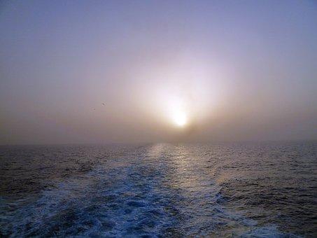 Sunset, Sea, Greece, Sun, Evening, Wave, Coast