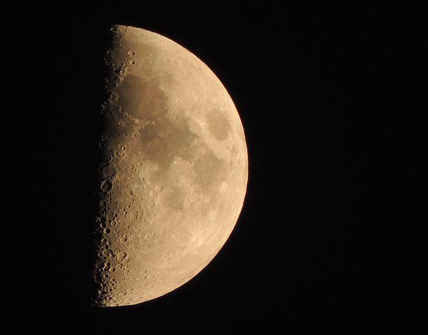 Moon, Half Moon, Lunar, Half, Space, Bright, Astronomy