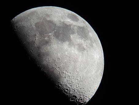 Half Moon, Moon, Moon Craters
