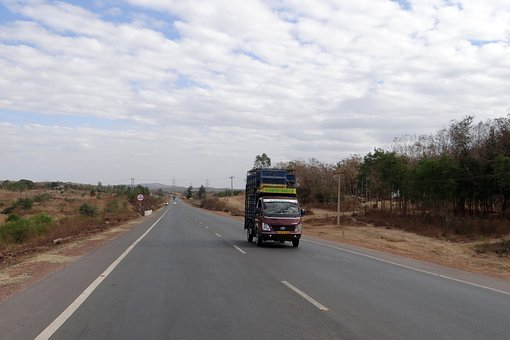 Highway, Nh 4, Dharwad, Goods Carrier, Lorry, Truck