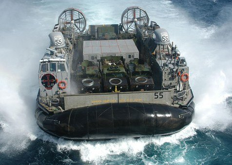 Hovercraft, Floating Boat, Float, Air Cushion, Drive
