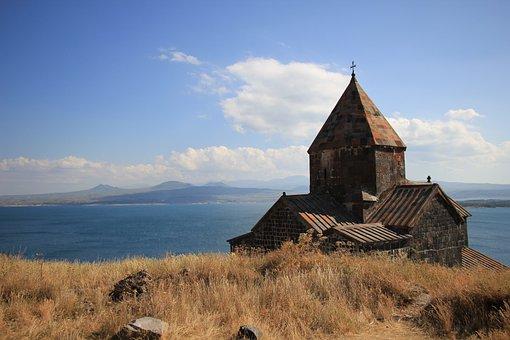 Armenia, Lake, Sevan, Monastery