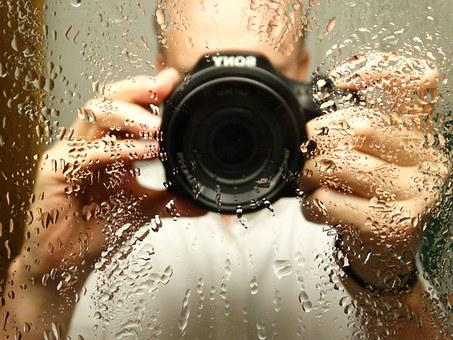 Photographer, Photograph, Drop Of Water, Mirror Image