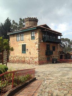 Home, Tower, Brick, Architecture, Montserrat