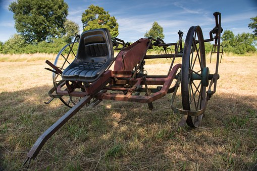 Machine, Old, Technique, Tedder, Hay, Country