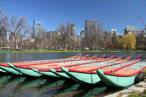 Public Garden, Boston, Park, Common, Swan Boats