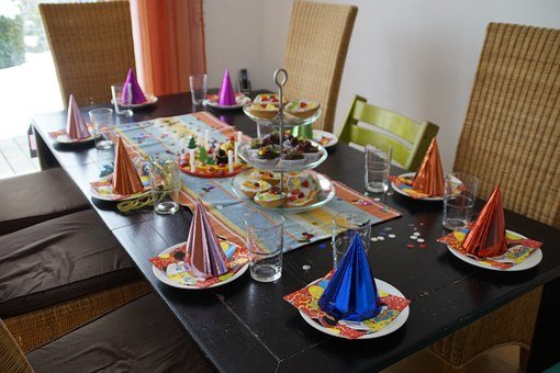 Children's Birthday, Table, Table Decorations