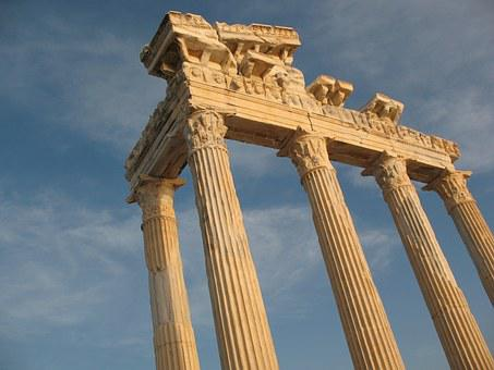 Turkey, Temple, The Ruins Of The, Excavations, Sky