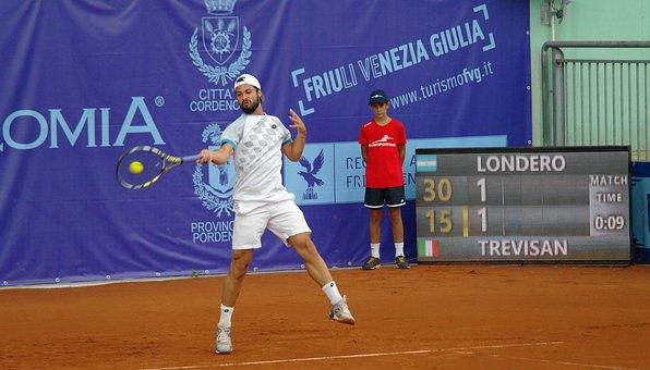 Tennis Player, Forehand, Tournament, Tennis Court