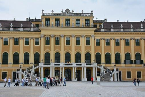 Schönbrunn Palace, Vienna, On, Palace, Background