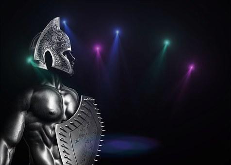 Spartan, Warrior, Soldier, Ancient, Greek, Helmet