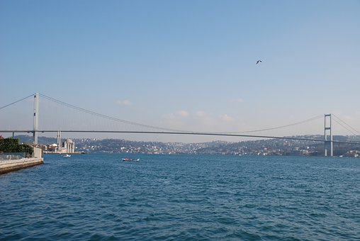 Water, Bridge, Sea, River, Sky