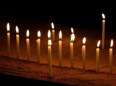 Candles, Church, Lights, Christmas, Night, Advent