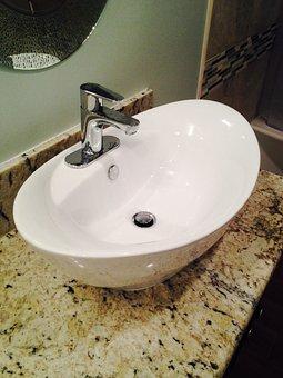 Granite, Sink, Bowl, Faucet, Porcelain, Tap, Bathroom