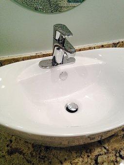 Sink, Bowl, Faucet, Porcelain, Tap, Bathroom, Modern