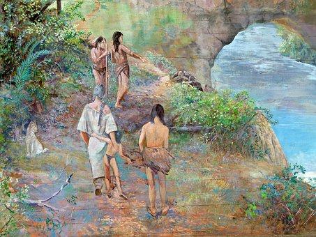 Artwork, Painting, Bridge Pier, Bridge Of The God
