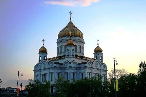 Cathedral, Church, Building, Religion, Russian Orthodox
