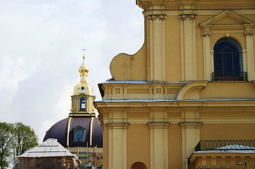 Cathedral, Russian, Church, Orthodox, Building, Yellow