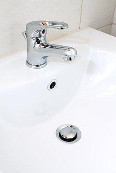 Basin, Bathroom, Bowl, Ceramic, Chrome, Clean