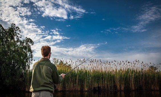 Fishing, Fisherman, Fisher Men, Rod, Angling, Blue Fish