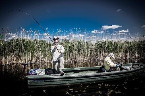 Fisherman, Fishing Men, Casting, Boat, Jezero Joca