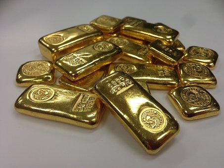 Gold, Bar, Gold Bar, Gold Bullion, Bar Of Gold