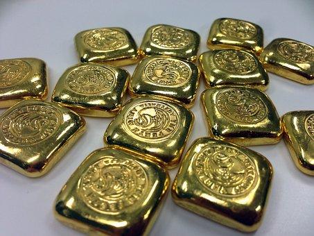 Gold, Gold Bar, Gold Bullion, Gold Ingot, Bar Of Gold
