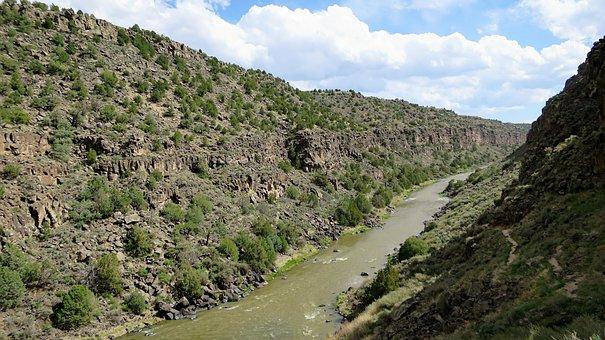 Rio Grande, New Mexico, Gorge, Rio, Grande, Nm, Canyon