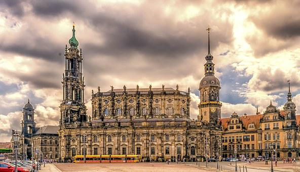 Dresden, Hofkirche, Old Town, Saxony, Architecture