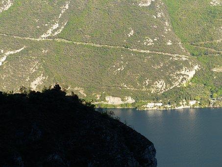 Trail, Away, Path, Migratory Path, Mountain, Lake, Bank