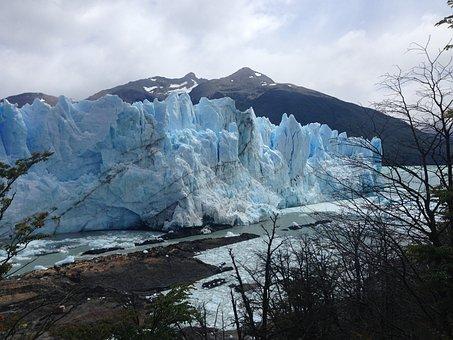 Glacier, Patagonia, Nature, Mountains, Lake, Winter