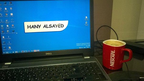 Laptop, Desktop, Computer, Windows, Nescafe, Coffee